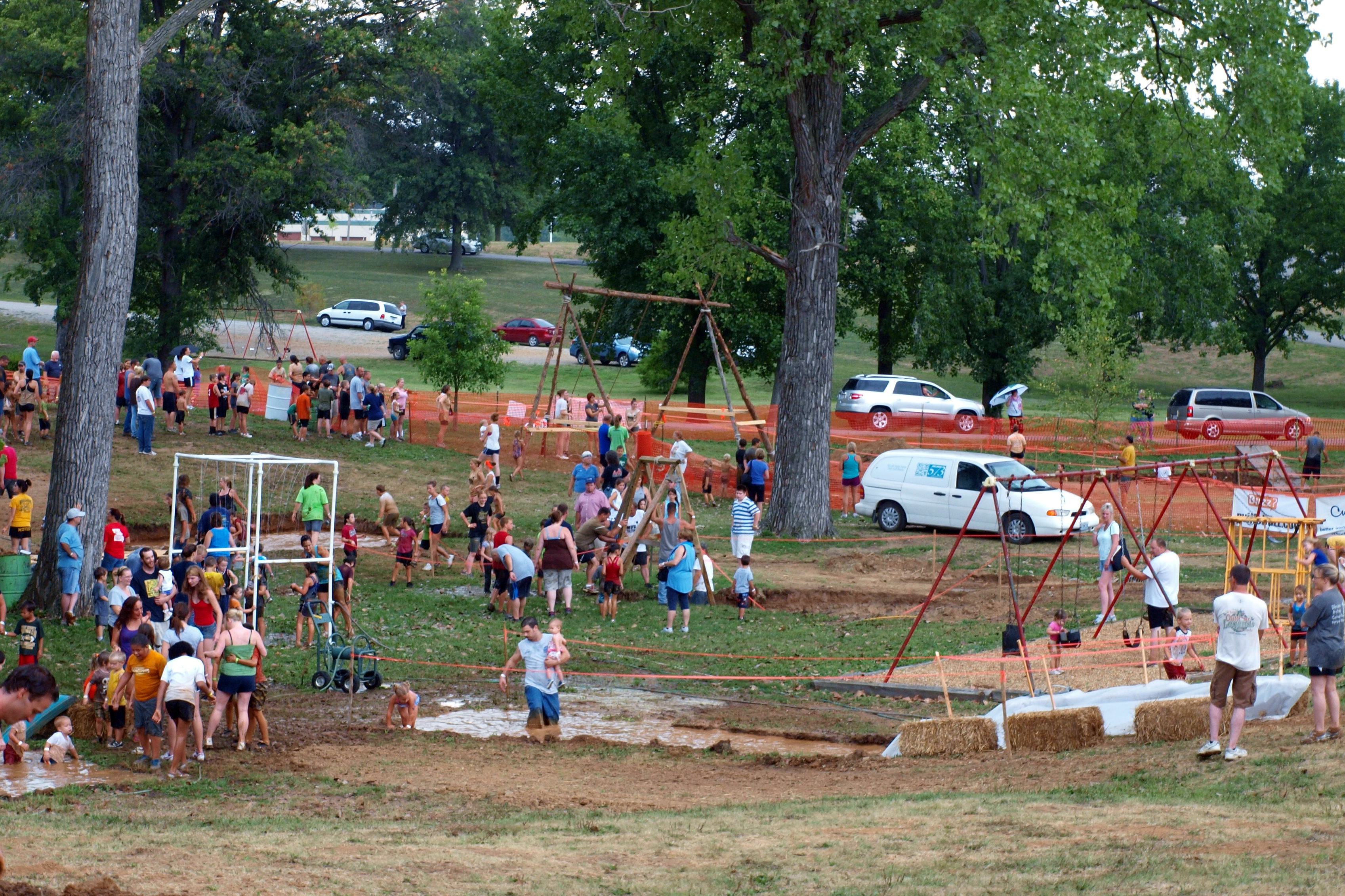 View of City Park at Mudfest 2012